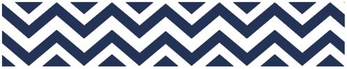 Navy and White Chevron Zig Zag Kids and Baby Modern Wall Paper Border - Click to enlarge