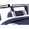 Navy and White Hotel Spa Collection Neckroll Bolster Pillow