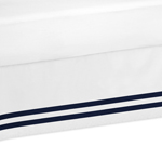 Navy and White Queen Bed Skirt for Anchors Away Nautical Bedding Sets