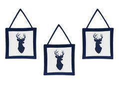 Navy and White Woodland Deer Wall Hanging Accessories by Sweet Jojo Designs