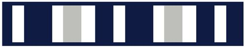 Navy Blue and Gray Stripe Childrens and Teen Modern Wall Paper Border - Click to enlarge