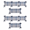 Navy Blue and Grey Plaid Collection Crib Bumper by Sweet Jojo Designs