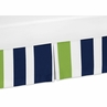 Navy Blue and Lime Green Crib Bed Skirt for Stripe Bedding Sets