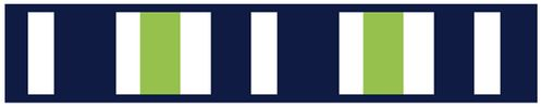Navy Blue and Lime Green Stripe Childrens and Teens Modern Wall Paper Border - Click to enlarge