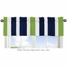 Navy Blue and Lime Green Stripe Collection Window Valance by Sweet Jojo Designs