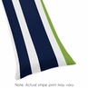 Navy Blue and Lime Green Stripe Full Length Double Zippered Body Pillow Case Cover