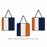 Navy Blue and Orange Stripe Wall Hanging Accessories by Sweet Jojo Designs