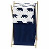Navy Blue and White Baby Kid Clothes Laundry Hamper for Big Bear Collection