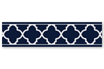 Navy Blue and White Modern Wallpaper Wall Border for Trellis Lattice Collection by Sweet Jojo Designs