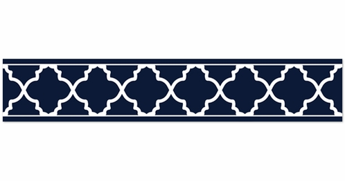 navy blue and white modern wallpaper wall border for trellis latticenavy blue and white modern wallpaper wall border for trellis lattice collection by sweet jojo designs