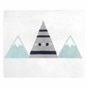 Navy Blue, Aqua and Grey Aztec Accent Floor Rug or Bath Mat for Mountains Collection by Sweet Jojo Designs