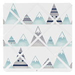 Navy Blue, Aqua and Grey Aztec Fabric Memory Memo Photo Bulletin Board for Mountains Collection by Sweet Jojo Designs
