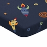 Navy Blue Baby Fitted Mini Portable Crib Sheet for Space Galaxy Collection by Sweet Jojo Designs