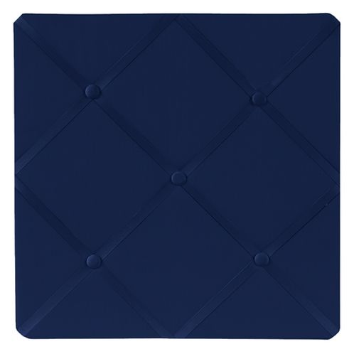 Navy Blue Fabric Memory/Memo Photo Bulletin Board by Sweet Jojo Designs - Click to enlarge
