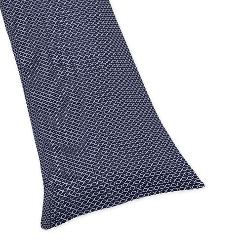 Navy Blue Hexagon Full Length Double Zippered Body Pillow Case Cover for Sweet Jojo Designs Arrow Sets - Click to enlarge