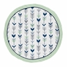 Navy Blue, Mint and Grey Woodland Arrow Playmat Tummy Time Baby and Infant Play Mat for Woodsy Collection by Sweet Jojo Designs