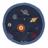 Navy Blue Planets Playmat Tummy Time Baby and Infant Play Mat for Space Galaxy Collection by Sweet Jojo Designs