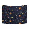 Navy Blue Planets Wall Hanging Tapestry Art Decor for Space Galaxy Collection by Sweet Jojo Designs - 60in. x 80in.