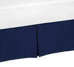 Navy Blue Queen Bed Skirt for Blue Whale Collection Bedding Sets by Sweet Jojo Designs