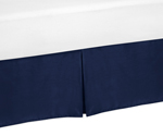 Navy Blue Toddler Bed Skirt for Plaid Boys Kids Childrens Bedding Sets
