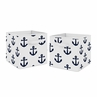 Navy Blue White Anchors Foldable Fabric Storage Cube Bins Boxes Organizer Toys Kids Baby Childrens by Sweet Jojo Designs - Set of 2 - Nautical Theme Ocean Sailboat Sea Marine Sailor Anchor Unisex Gender Neutral