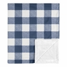 Navy Buffalo Plaid Check Baby Boy Blanket Receiving Security Swaddle for Newborn or Toddler Nursery Car Seat Stroller Soft Minky by Sweet Jojo Designs - Blue and White Woodland Rustic Country Farmhouse Lumberjack