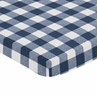 Navy Buffalo Plaid Check Boy Fitted Mini Crib Sheet Baby Nursery by Sweet Jojo Designs For Portable Crib or Pack and Play - Blue and White Woodland Rustic Country Farmhouse Lumberjack