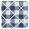 Navy Buffalo Plaid Check Fabric Memory Memo Photo Bulletin Board by Sweet Jojo Designs - Blue and White Woodland Rustic Country Farmhouse Lumberjack