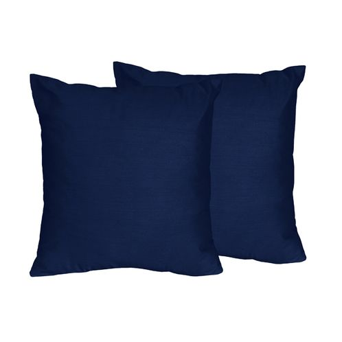 Navy Decorative Accent Throw Pillows for Chevron Collection - Set of 2 - Click to enlarge