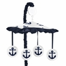 Navy White Anchors Boy Girl Baby Nursery Musical Crib Mobile by Sweet Jojo Designs - Blue Nautical Theme Ocean Sailboat Sea Marine Sailor Anchor Unisex Gender Neutral