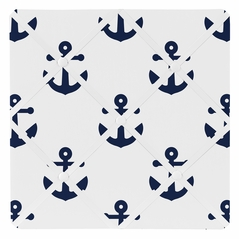 Navy White Anchors Fabric Memory Memo Photo Bulletin Board by Sweet Jojo Designs - Blue Nautical Theme Ocean Sailboat Sea Marine Sailor Anchor Unisex Gender Neutral