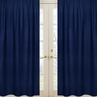 Navy Window Treatment Panels for Navy and White Chevron Collection- Set of 2