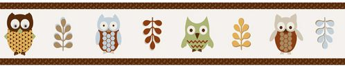 Night Owl Baby and Kids Wall Paper Border by Sweet Jojo Designs - Click to enlarge