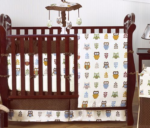 Night Owl Baby Bedding - 9 pc Crib Set - Click to enlarge