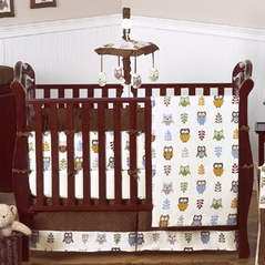 Night Owl Baby Bedding - 9 pc Crib Set