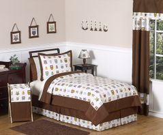 Night Owl Childrens Bedding - 4 pc Twin Set