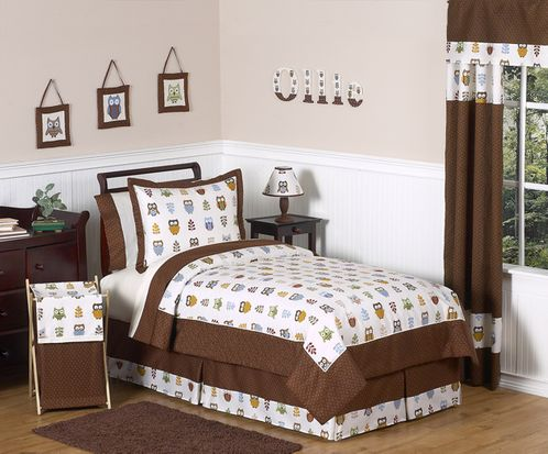 Night Owl Childrens Bedding - 4 pc Twin Set - Click to enlarge