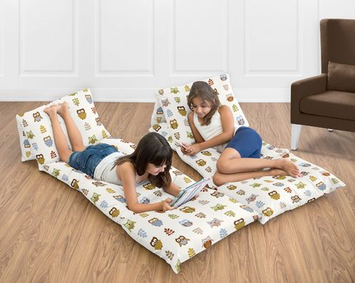 Night Owl Collection Kids Teen Floor Pillow Case Lounger Cushion Cover by Sweet Jojo Designs - Click to enlarge