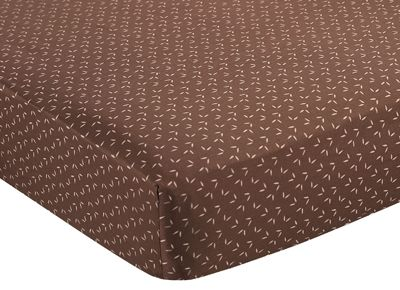 Night Owl Fitted Crib Sheet for Baby/Toddler Bedding - Tonal Mini Leaf Print - Click to enlarge