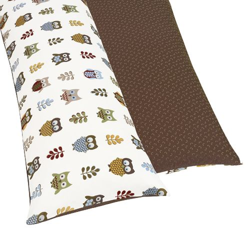 Night Owl Full Length Double Zippered Body Pillow Case Cover by Sweet Jojo Designs - Click to enlarge