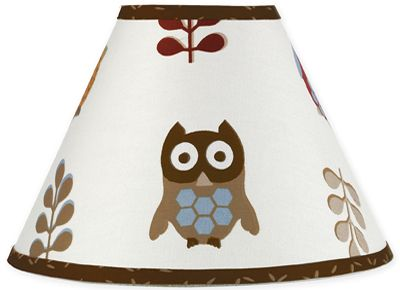 Night Owl Lamp Shade by Sweet Jojo Designs - Click to enlarge