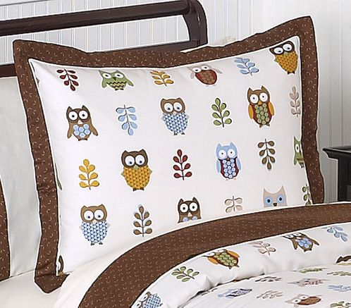 Night Owl Pillow Sham by Sweet Jojo Designs - Click to enlarge