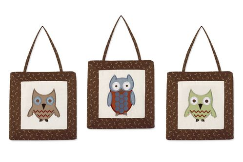 Night Owl Wall Hanging Accessories by Sweet Jojo Designs - Click to enlarge