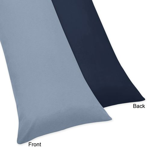Ocean Blue Full Length Double Zippered Body Pillow Case Cover - Click to enlarge