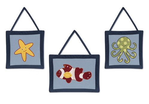 Ocean Blue Sea Life Wall Hanging Accessories by Sweet Jojo Designs - Click to enlarge