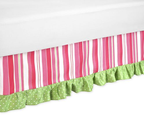 Olivia Bed Skirt for Toddler Bedding Sets by Sweet Jojo Designs - Click to enlarge