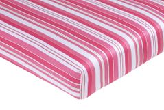 Olivia Fitted Crib Sheet for Baby/Toddler Bedding Sets - Stripe Print
