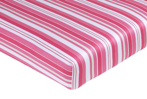 Olivia Fitted Crib Sheet for Baby/Toddler Bedding Sets - Stripe Print - Click to enlarge