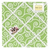 Olivia Lime and White Swirl Print Fabric Memory/Memo Photo Bulletin Board by Sweet Jojo Designs