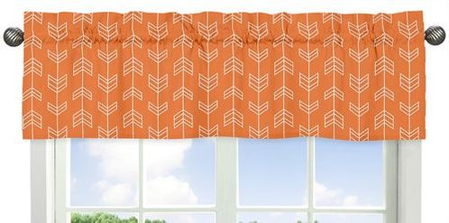 Orange and Navy Arrow�Collection Window Valance - Click to enlarge
